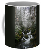 Green And White Coffee Mug