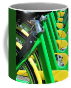 Green And Yellow Bicycles Coffee Mug
