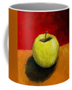 Green Apple With Red And Gold Coffee Mug