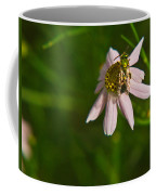 Green Bee Searches For Pollen Coffee Mug