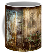 Green Bike Crooked Door Coffee Mug