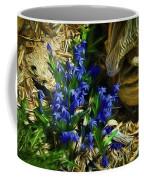 Green Blue And Burlap Coffee Mug