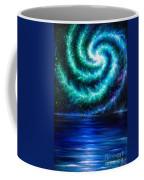 Green-blue Galaxy And Ocean. Planet Dzekhtsaghee Coffee Mug