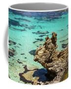 Green Blue Ocean Water And Rocks Coffee Mug