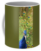 Green Blue Peacock Showing Off His Feathered Tail No2 Coffee Mug