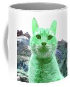Green Cat Coffee Mug