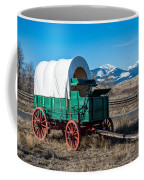 Green Covered Wagon Coffee Mug