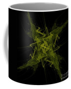 Green Crosshatch Scribble  Coffee Mug