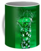 Green Dice Splash Coffee Mug
