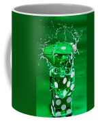 Green Dice Splash Coffee Mug