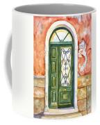Green Door In Venice Italy Coffee Mug