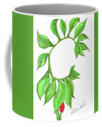 Green Dragon With Fruit Cluster Coffee Mug