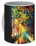 Green Dreams - Palette Knife Oil Painting On Canvas By Leonid Afremov Coffee Mug