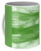 Green Drift- Abstract Art By Linda Woods Coffee Mug