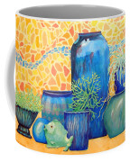 Green Fish And Friends Coffee Mug