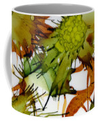 Green Fruit And Butterfly Coffee Mug