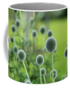 Green Globe Thistles Coffee Mug