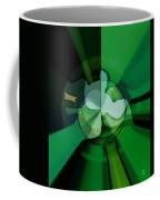Green Glass Wheels Coffee Mug