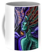 Green Goddess With Butterfly Coffee Mug
