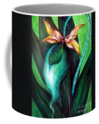 Green Golden Exotic Orchid Flower Coffee Mug