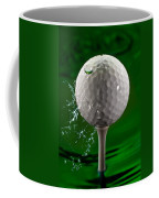 Green Golf Ball Splash Coffee Mug