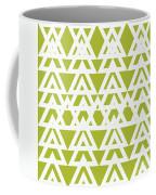 Green Graphic Diamond Pattern Coffee Mug