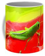 Green Grasshopper Coffee Mug