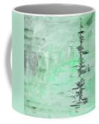 Green Gray Abstract Coffee Mug