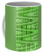 Green Heavy Screen Abstract Coffee Mug