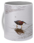 Green Heron Fishing Coffee Mug