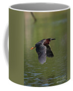 Green Heron In Flight Coffee Mug