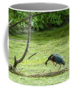 Green Heron Lunch Coffee Mug