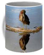 Green Heron Preening Coffee Mug