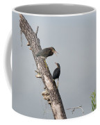 Green Herons At The Water Cooler Coffee Mug
