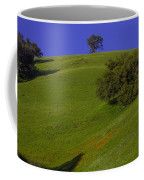 Green Hill With Poppies Coffee Mug