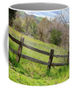 Green Hills And Rustic Fence Coffee Mug