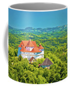Green Hills Of Zagorje Region And Veliki Tabor Castle View Coffee Mug