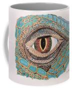 Green Iguana Eye Coffee Mug