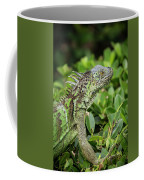 Green Iguana Vertical Coffee Mug