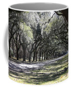 Green Lane With Live Oaks Coffee Mug