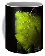 Green Leaf Detail Coffee Mug
