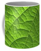 Green Leaf Structure Coffee Mug