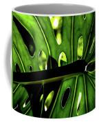 Green Leave With Holes Coffee Mug