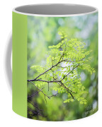 Green Leaves In The Forest Coffee Mug