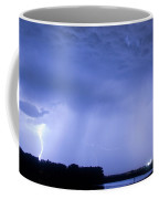 Green Lightning Bolt Ball And Blue Lightning Sky Coffee Mug by James BO  Insogna