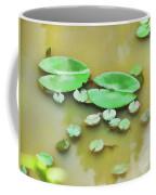 Green Lotus Leaf In The Lake Coffee Mug