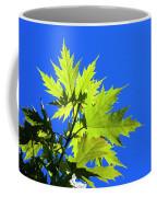 Green Maple Leaves Coffee Mug