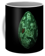 Green Marble Egg With Red Details Coffee Mug