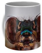 Green Metalwing Damselfly 4x Coffee Mug