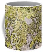 Green Moss On Rock Pattern Coffee Mug